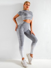 2 Pieces Stretchy & Seamless Yoga Set