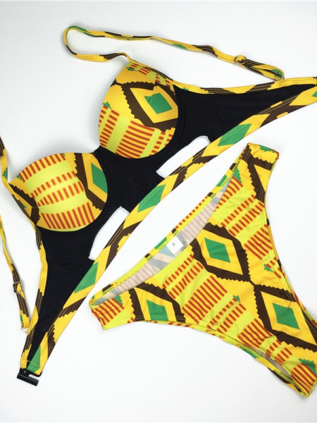 African Print 2-Pieces High Waist